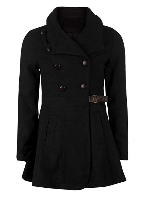 womens winter swing coats double breasted lapel vintage wool swing trench coat
