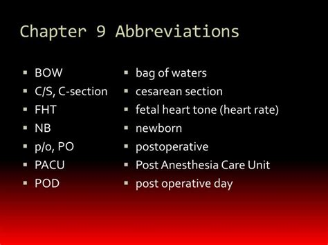 c section post op care ppt medical terminology powerpoint presentation id 1943459