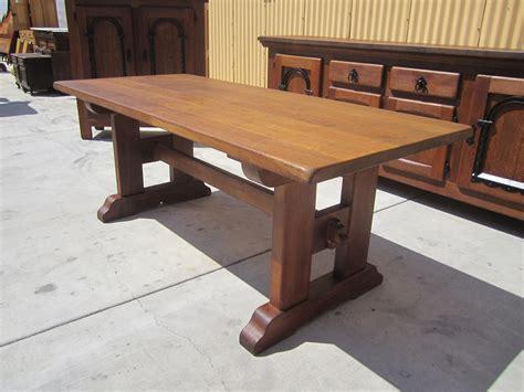 rustic trestle table plans antique rustic trestle table dining table antique