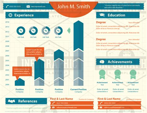 infographic resume template seasoned pro
