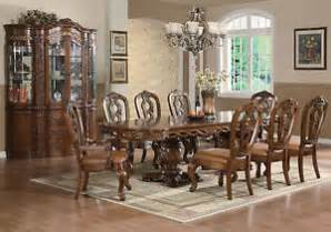 9pc traditional formal brown dining room set mcrd0018