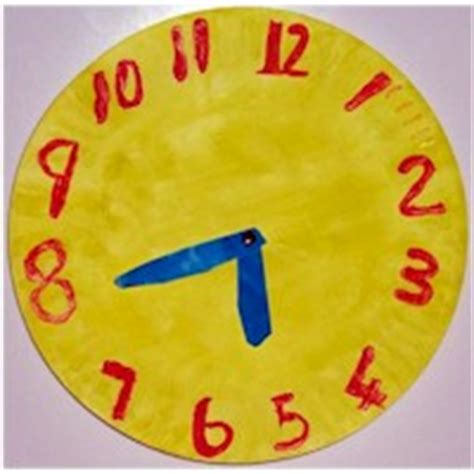 Paper Plate Clock Craft - crafts