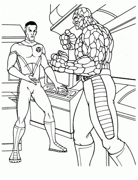 Fantastic 4 Coloring Pages by Fantastic Four Coloring Pages Coloringpages1001