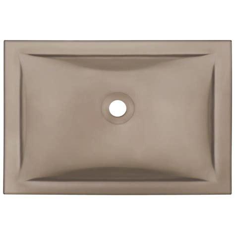 undermount glass bathroom sinks polaris sinks undermount glass sink in taupe pug3191 tau