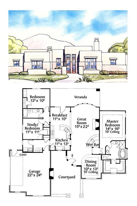 santa fe style house plans 21 best images about house plans on pinterest house