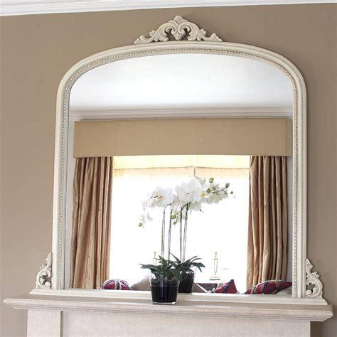 white beaded edge overmantel fireplace mirror mirrors