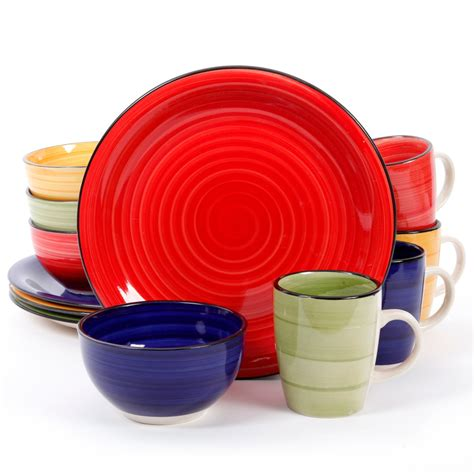 dinnerware colors gibson home color vibes 12 dinnerware set