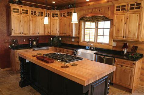 knotty hickory kitchen cabinets natural knotty alder wood kitchen cabinets custom