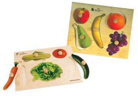 2 Set Woodem Puzzle Vegetanle And My Part jumbo wooden knob puzzles puzzles