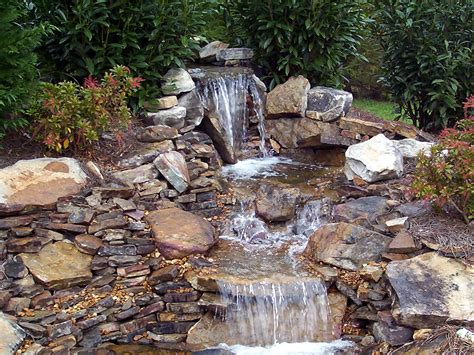 small waterfalls backyard backyard pond ideas with waterfall marceladick