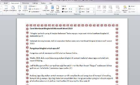 membuat border atau bingkai halaman di word 2010 cara membuat bingkai di microsoft word 2007 2010