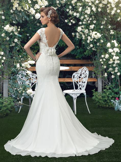 backless trumpet wedding dresses