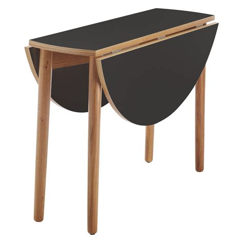 foldable dining table suki 2 4 seat black folding round dining table buy now at habitat uk