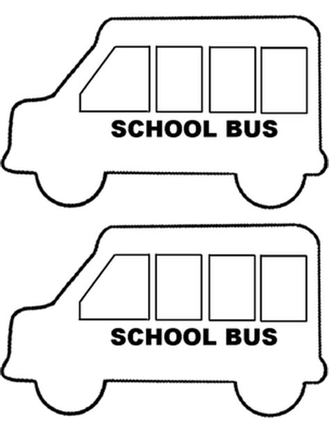 school bus template rox s storytime resources school
