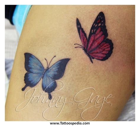 butterfly tattoo on upper thigh tony baxter