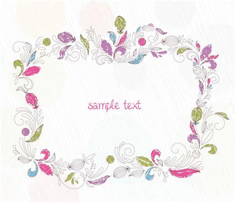 doodle flower vector illustration doodles floral frame vector illustration stock image
