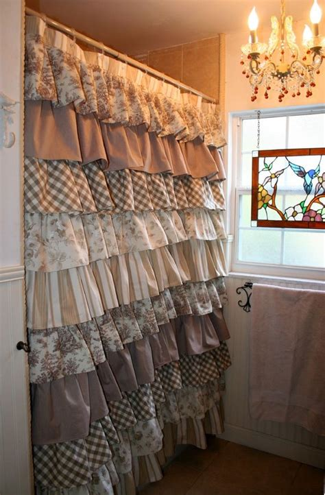 ruffle fabric shower curtain best 25 rustic shower curtains ideas on pinterest tin