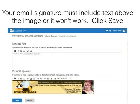 add or change your email signature on your blackberry image gallery hotmail email signature image