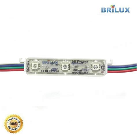 Brilux Led Smd 5050 Mata Besar Outdoor Color Rgb E9 led module brilux korea smd 5050 3 mata rgb color