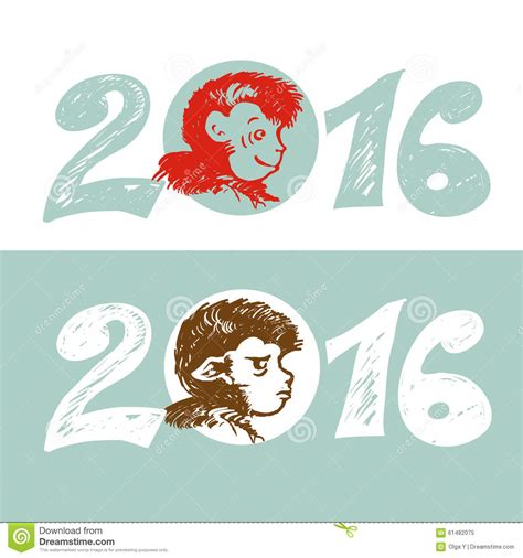new year monkey free vector design illustration concepts symbol new year monkey 2016