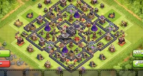 best th9 hybrid base 2016 best clash of clans town hall 9 hybrid base layout