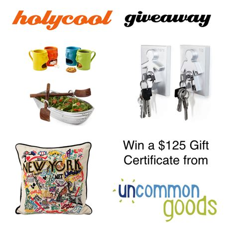 Uncommon Goods Giveaway - win a 125 gift certificate from uncommongoods com holycool net