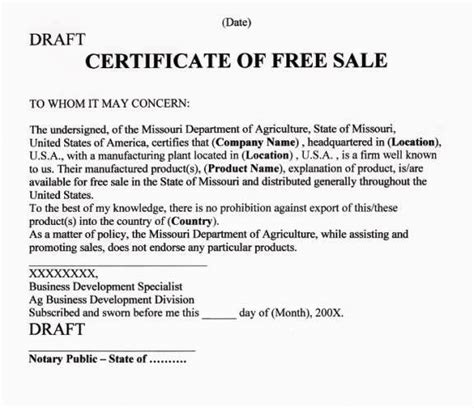 certification letter of ownership sle step by step guide to apostille certificate of free sale