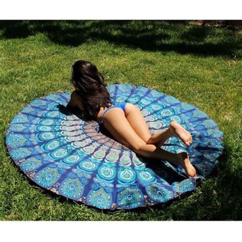 indian pattern yoga mat hippie round beach throw 72 bohemian towel yoga mat table