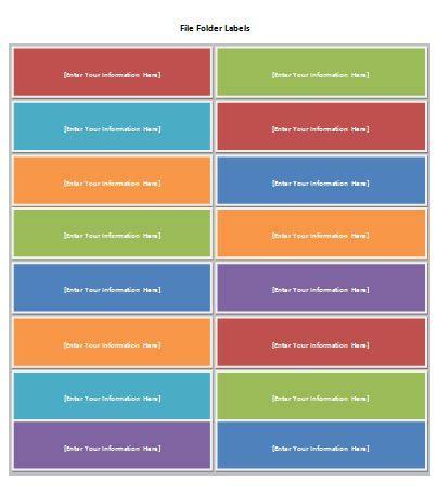 free file folder label template | formal word templates
