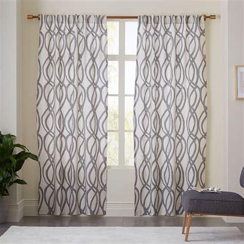 lattice curtain cotton canvas scribble lattice curtains set of 2