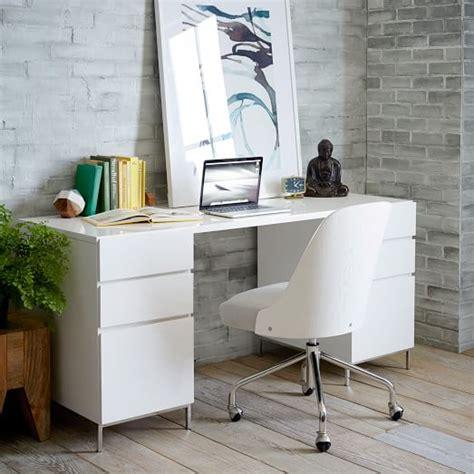 white desk set lacquer storage desk set 2 box files west elm