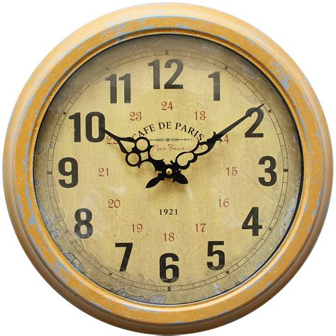yosemite home decor 16 in double sided iron wall clock in yosemite home decor clka7227me 16 in circular iron wall