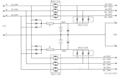 three phase no inverter ups circuit charged by the two