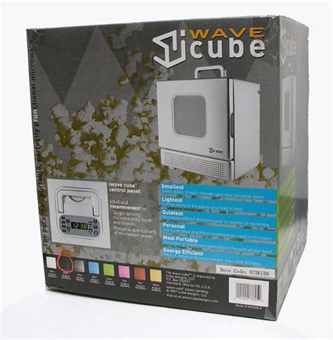 Iwave Personal Microwave It Or It by Iwave Cube Portable Microwave The Gadgeteer