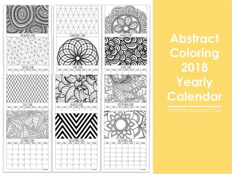 2018 coloring calendar books printable calendar pages 183 the typical