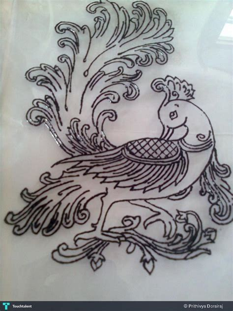 Drawing Outlines For Painting by Peacock Outline Painting Prithivya Dorairaj Touchtalent