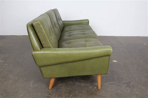green leather couches mid century modern green leather sofa by skippers mobler