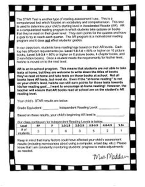 Parent Letter Explaining Accelerated Reader 1000 Images About B Orientation Ii Accelerated Reader