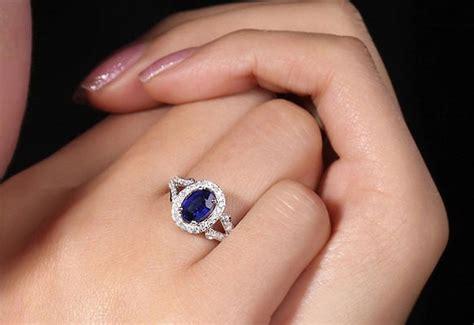 Blue Sapphire Safir 3 2ct 2 ct sapphire engagement rings vintage 2 carat blue