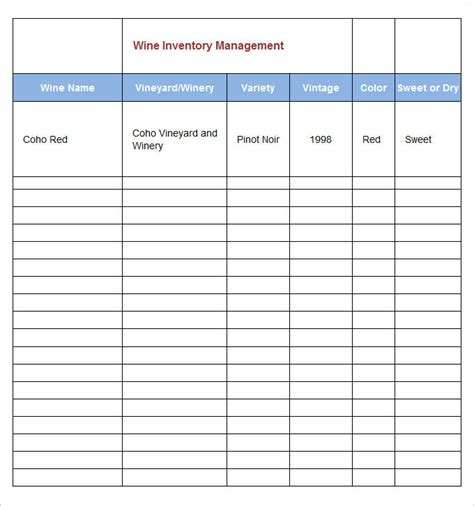 management list sle spreadsheet exle project
