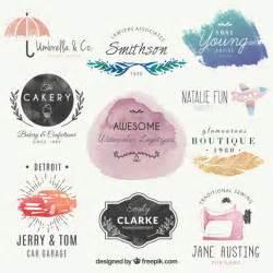 water color logo lovely watercolor logos vector free