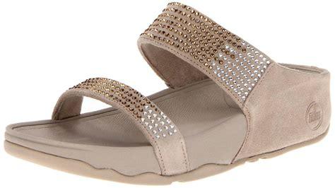 Sandal Wanita Fitflop Slide T3010 2 fitflop s sandals rock chic fitness flare slide rhinestone pebble beige ebay