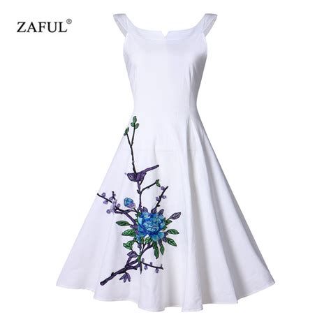 Summer Embroidery Dress zaful summer cotton embroidery vintage dress