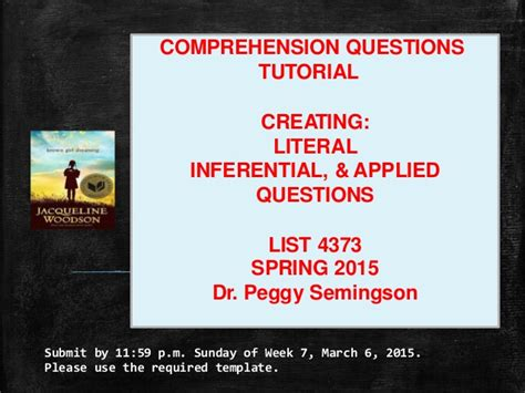 Tutorial Questions On C | comprehension questions tutorial literal inferential