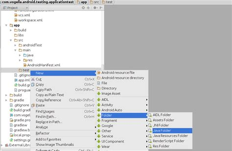 android studio junit test tutorial developing android unit and instrumentation tests tutorial