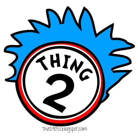 thing 1 and thing 2 printable template the290ss thing one and thing two cupcakes the cat in the