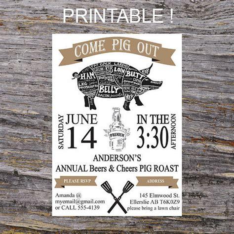 cheers and beers invitation pig roast bbq invite beers pig