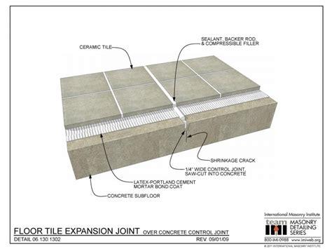 1 x 2 brick joint floor tile 06 130 1302 floor tile expansion joint concrete