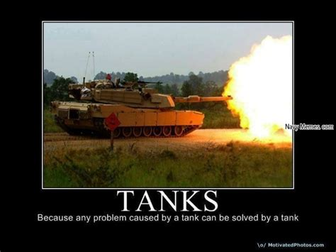 Tank Meme - tanks solving tank problems navy memes clean mandatory fun