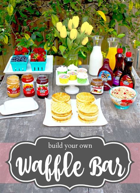 waffle bar toppings 25 best ideas about waffle bar on pinterest birthday